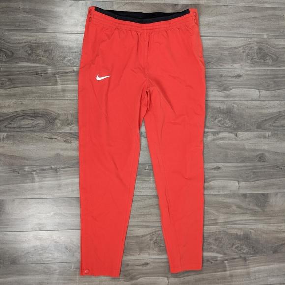 Nike Red Tearaway Track Pants Dri-Fit Medium
